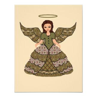 Cartão Anjo agradável dos retalhos