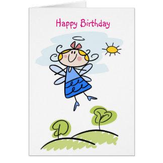 Cartão Anjo bonito do Goddaughter personalizado