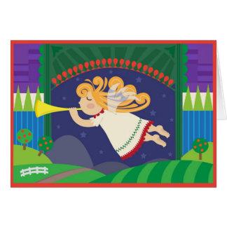 Cartão Anjo com trombeta