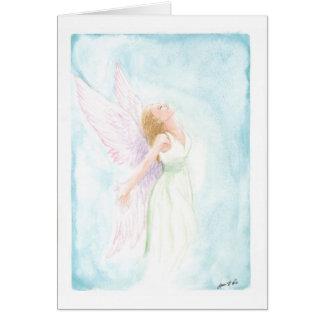 Cartão Anjo da aguarela ou fada (vazio para dentro)