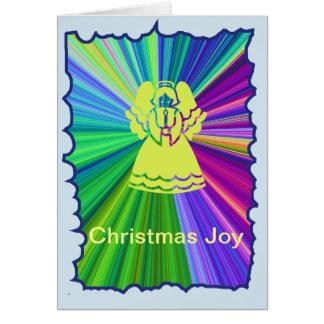 Cartão Anjo da alegria do Natal