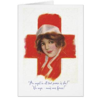 Cartão Anjo da enfermeira do francês