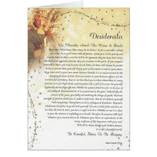 Cartão Anjo-da-guarda estrelado dos DESIDERATA