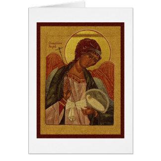 Cartão Anjo-da-guarda ortodoxo