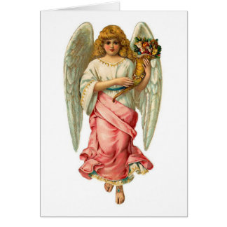 Cartão Anjo da páscoa com asas bonitas