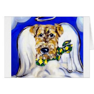 Cartão Anjo de Airedale Terrier