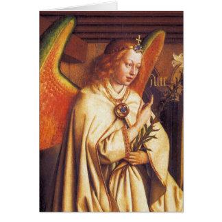 Cartão Anjo do aviso, arcanjo Gabriel