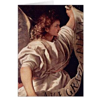 Cartão Anjo do aviso por Titian