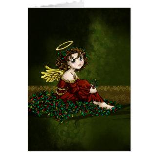 Cartão Anjo do azevinho