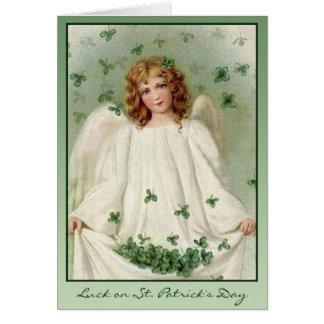 Cartão Anjo do dia de St Patrick