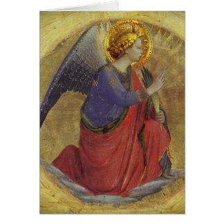 Cartão Anjo do Fra Angelico do aviso