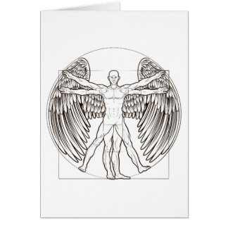 Cartão Anjo do homem de Vitruvian