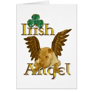Cartão Anjo do irlandês do cão de Shar Pei do chinês do