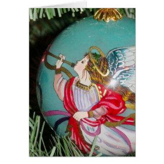 Cartão Anjo do Natal - arte do Natal - decorações do anjo