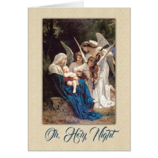 Cartão Anjo do Natal do Victorian do vintage e bebê Jesus