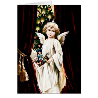 Cartão Anjo do natal vintage