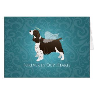 Cartão Anjo do Spaniel de Springer - memorial do animal