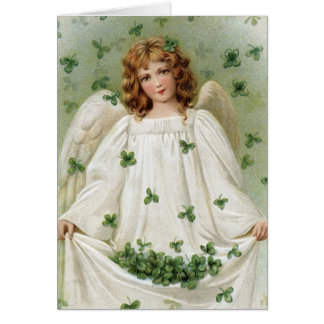 Cartão Anjo do St. Patricks que traz lhe a boa sorte