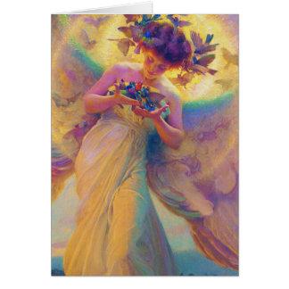 Cartão Anjo dos pássaros