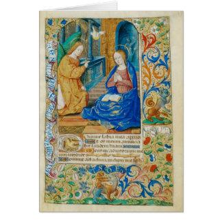 Cartão Anjo e Mary