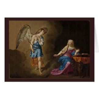 Cartão Anjo e Mary do aviso