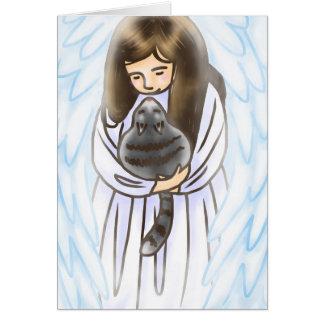 Cartão Anjo & gato