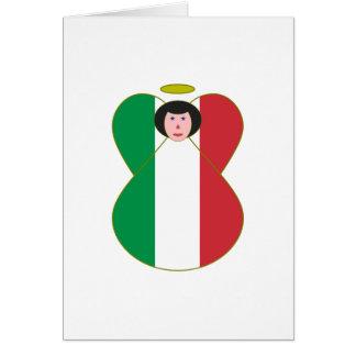 Cartão Anjo italiano da bandeira