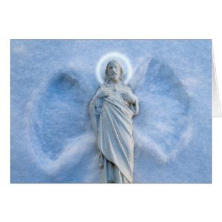 Cartão Anjo Jesus da neve