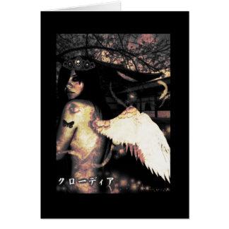 Cartão Anjo lateral mau