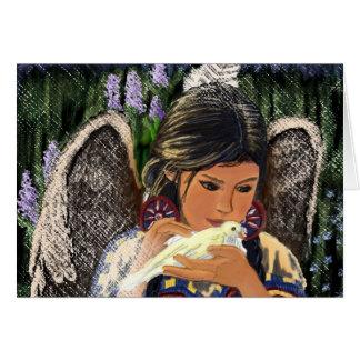 Cartão Anjo Notecard do nativo americano