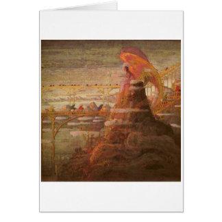 Cartão Anjo. Prelúdio por M.K. Ciurlionis, 1908-09