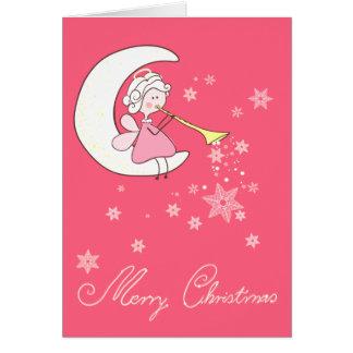 Cartão Anjo que joga a trombeta