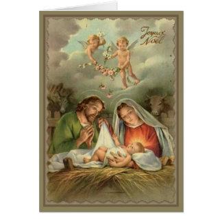 Cartão Anjos de Jesus do bebê da Virgem Maria de St