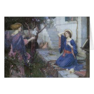 Cartão Anjos do natal vintage, aviso, Waterhouse