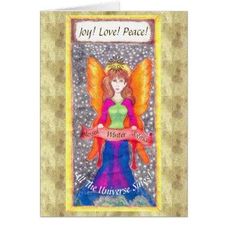 Cartão Anjos do solstício de Yule da terra