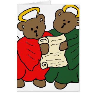 Cartão Anjos do urso de ursinho