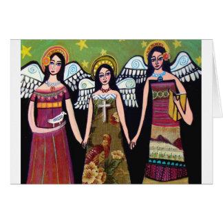 Cartão Anjos mexicanos pela urze Galler