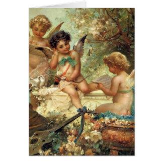 Cartão Anjos musicais por Zatzka, páscoa do Victorian do