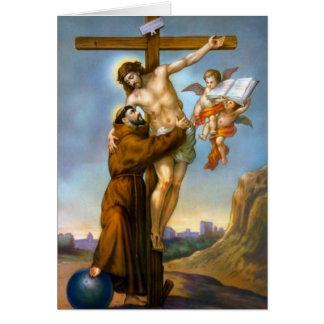 Cartão Anjos transversais do mundo de Francisco de Assis