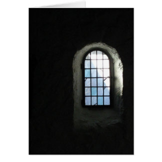 Cartão annes janela da rua, inverno