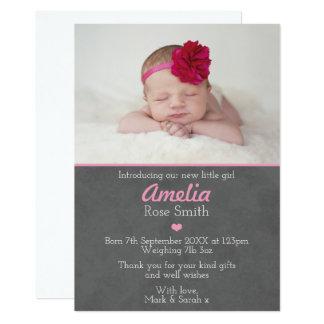 Cartão Announcementthank que novo do bebé você carda