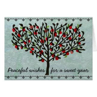 Cartão Ano calmo do doce dos desejos