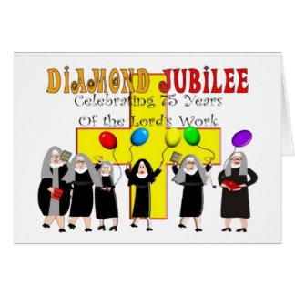 Cartão Ano de jubileu de diamante das freiras 75th de