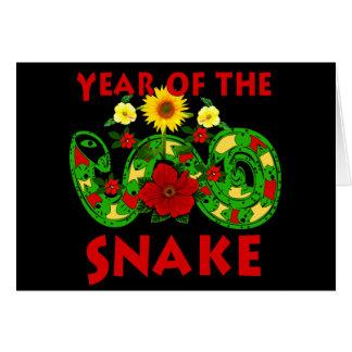 Cartão Ano do cobra