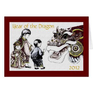 Cartão Ano do dragão