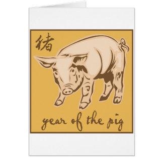 Cartão Ano do porco