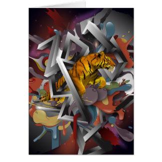 Cartão Ano do tigre 2010