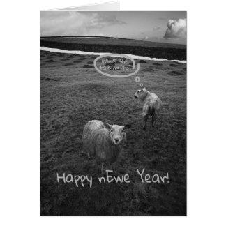 Cartão Ano feliz do nEwe - chalaça do ano novo