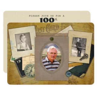 Cartão Ano masculino antigo do costume de 3 fotos da