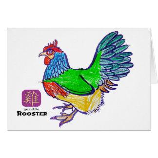 Cartão Ano novo chinês: Ano do galo